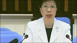 Dr. Margaret Chan of the World Health Organization photo c/o news.bbc.co.uk