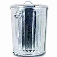 Galvanized Trash Can photo c/o housewares.hardwarestore.com