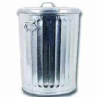 Galvanized Trash Can photo c/o housewares.hardwarestore.com