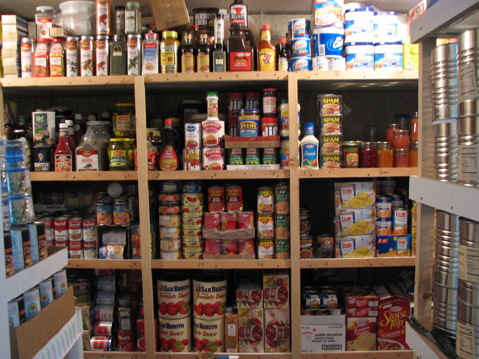 Food Storage Area Used In A Restaurant Kitchen