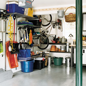 Store things you don't use often in the garage. Photo c/o greendarlingblog.com