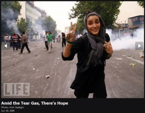 Peace Amidst the Chaos in Iran, June 2009 photo c/o time.com
