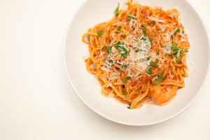 Fresh Parmesan Cheese on Pasta. Photo c/o foodwinelove.com