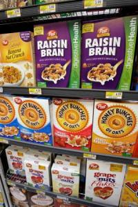 Post Cereals on display in Palo Alto, CA. Photo c/o AP Photo/Paul Sakuma