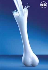 Milk is Good for Bones. photo c/o franklinpierce.edu
