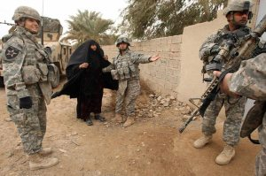 US Military in Iraq, February 2008. Photo by Patrick Baz/AFP/Getty Images