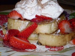 French Toast with Whip Cream and Strawberries photo c/o ehow.com
