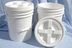 5 Gallon Buckets with Gamma Lid photo c/o Home Food Storage
