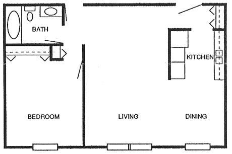 800 Square Foot Apartment Floor Plan on 2 bath house plans